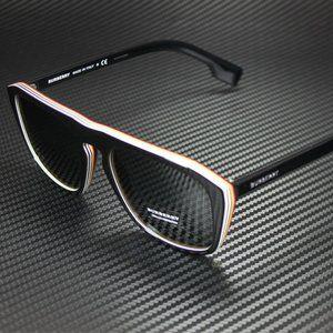 Burberry Black Multi Layer 55mm Mens Sunglasses